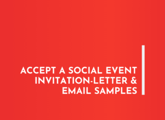 Accept a Social Event Invitation-Letter & Email Samples