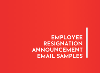 Employee Resignation Announcement Email Samples