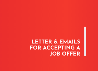 Letter & Emails For Accepting a Job Offer