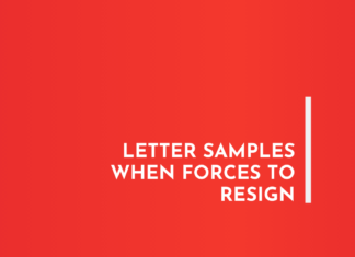Letter Samples when Forces to Resign