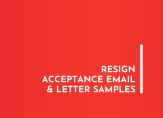 Resign Acceptance Email & Letter Samples