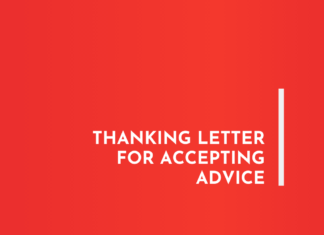 Thanking letter for Accepting Advice