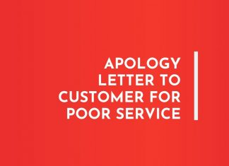 Apology Letter to Customer for Poor Service
