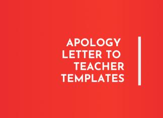 Apology letter to teacher templates