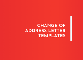 Change of Address letters Templates