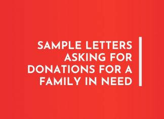 Letters Asking for Donations for a family