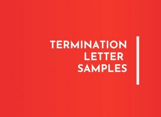 Termination letters Samples