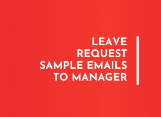 Leave Request Email letter to Manager