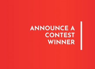 Announce contest winner Speech Samples