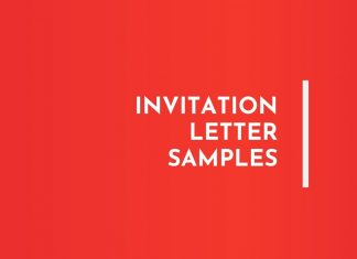 Invitation Letter Samples
