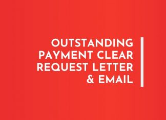 Outstanding payment Clear Request Email