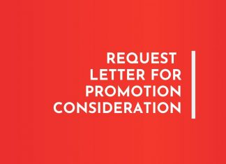 Request Letter for Promotion Consideration