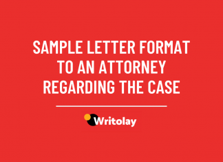 Sample letter format to an attorney regarding the case