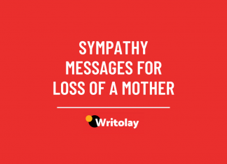 Sympathy messages for loss of a mother