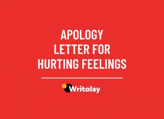 Apology letter for hurting feelings