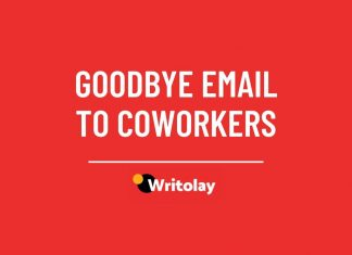 Goodbye email to coworkers