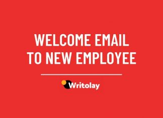 Welcome email to new employee