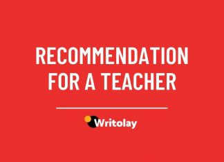Letter of Recommendation for a Teacher