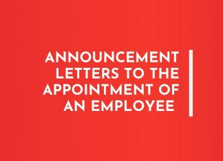 Appointment Announcement of an Employee Letters