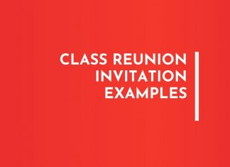 Class reunion Invitation Letters