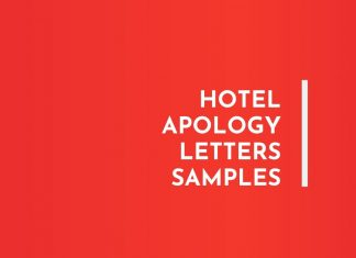 Hotel Apology letters