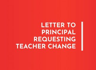 Letters to principal requesting Teacher Change