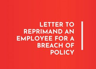 Reprimand Letters to employee