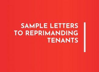 Letters to Reprimanding Tenants