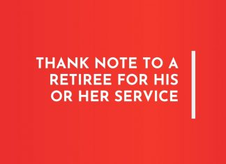 Service Retiree Thank you Emails