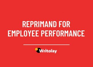Letters of Reprimand for Employee Performance