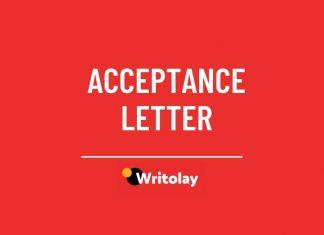 Sample acceptance letter