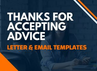Thanks For Accepting Advice Letter & Email
