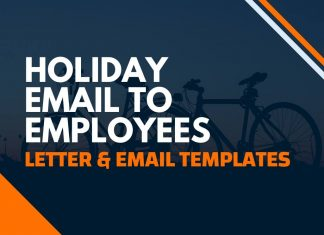 Holiday Email or Letter to Employees