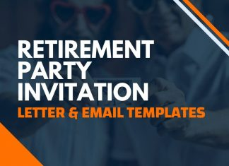 Retirement Party invitation Letters & Emails