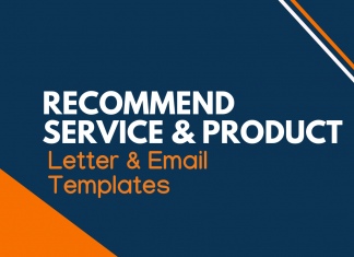 Recommend Service Product Letter