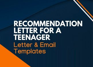 recommendation letter for teenager