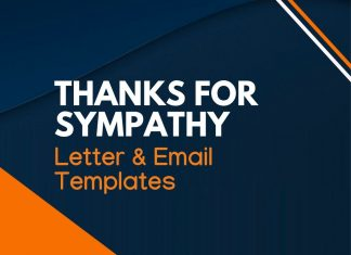 thank you letter for expression of sympathy
