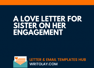 A Love Letter For Sister On her Engagement