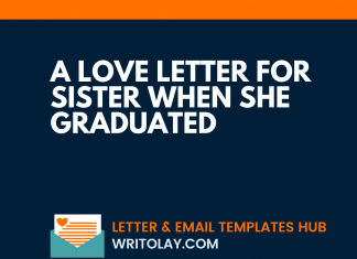 A Love Letter For Sister When She Graduated