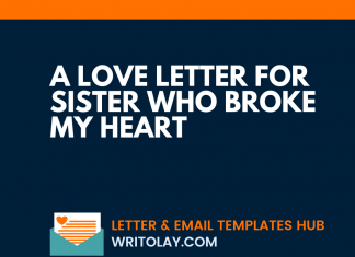 A Love Letter For Sister Who Broke My Heart