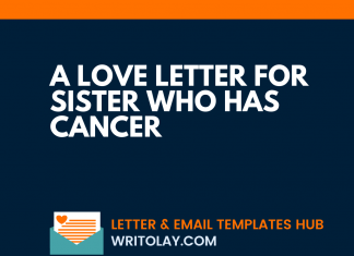 A Love Letter For Sister Who Has Cancer