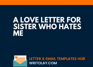 A Love Letter For Sister Who Hates Me