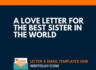 A Love Letter For The Best Sister in the World