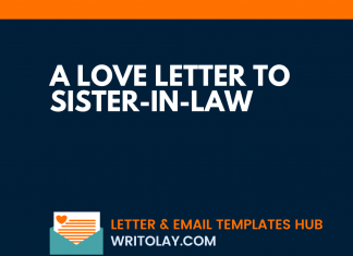 A Love Letter To Sister-In-Law
