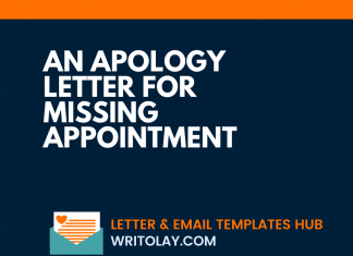 An Apology Letter For Missing Appointment