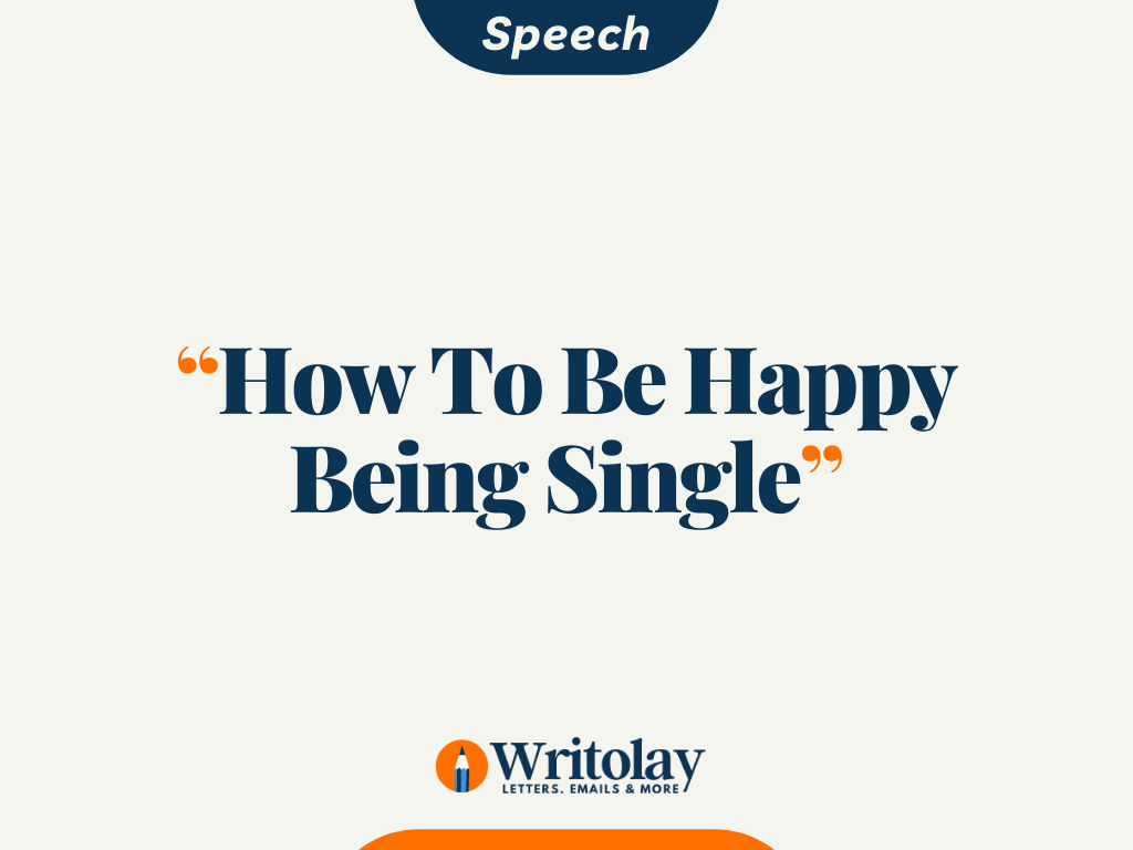 A Speech on
